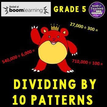 Dividing by 10 Patterns Digital Boom Cards Eureka Math grade 5 unit 2 lesson 16