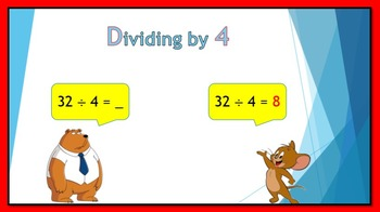 Dividing by 4