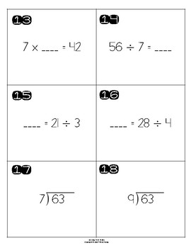 Dividing by 7 and 8