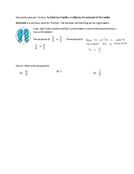 Dividing by Fractions - Notes