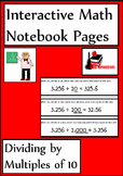 Dividing by Multiples of 10 Lesson for Interactive Math Notebooks