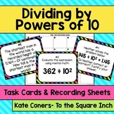 Dividing by Powers of 10 Task Cards