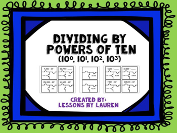 Dividing by Powers of Ten