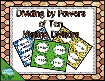 Dividing by Powers of Ten - Missing Divisors