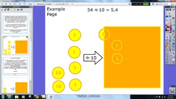 Dividing by Ten Changing Discs Template - Math