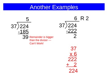Dividing by Two-Digit Divisors