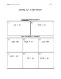 Dividing by a 2-Digit Divisor Quiz
