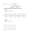 Dividing fractions using visuals