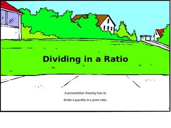 Dividing in a Ratio