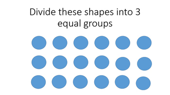 Dividing into Equal Groups Cards