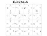 Dividing Radicals or Rationalizing the Denominator