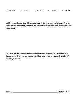 Dividing using Division Procedures 1