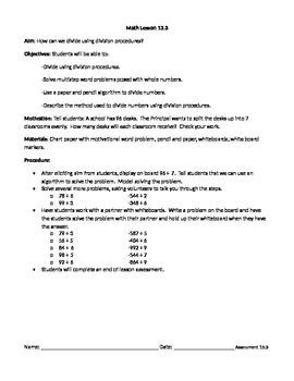 Dividing using Division Procedures