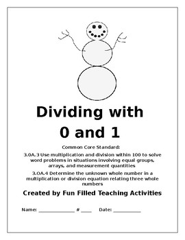 Dividing with 0 and 1 Math Center
