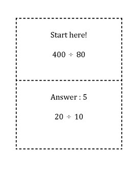 Dividing with 10s, 100s, 1000s Scavenger Hunt