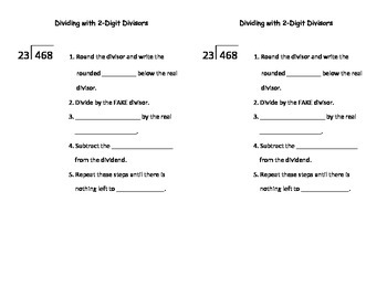 Dividing with 2-Digit Divisor Notes