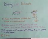 Dividing with Decimals