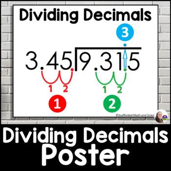 Dividing Decimals Poster