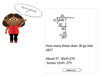 Dividing with Decimals and Two-digit Divisiors