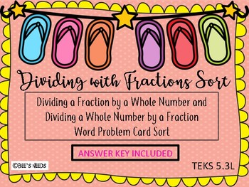 Dividing with Fractions Sorting Activity