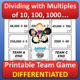 Dividing with Multiples of 10, 100, 1000 Scavenger Hunt