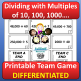 Dividing with Multiples of 10, 100, 1000 Activity