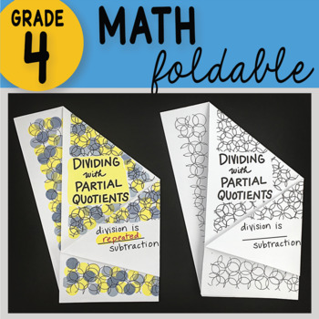Doodle Notes -Dividing with Partial Quotients Math Interactive Notebook Foldable