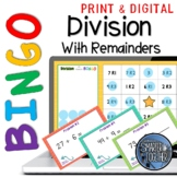 Dividing with Remainders Digital Bingo