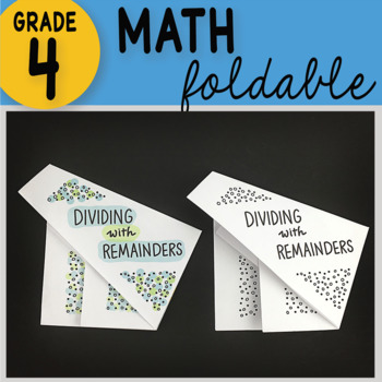 Doodle Notes - Dividing with Remainders Math Interactive Notebook Foldable