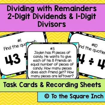 Dividing with Remainders Task Cards