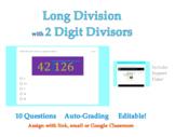 Long Division -Two Digit Divisors-Google Forms™ Digital Qu