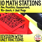 Dividing with Unit Fractions Stations