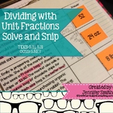 Dividing Whole Numbers by Fractions Solve and Snip Interac