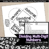 Dividing Multiple Digit Numbers for Interactive Notebooks