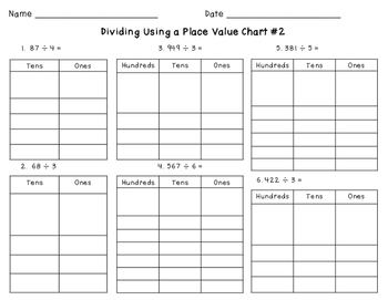 Dividing with a Place Value Chart