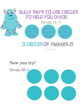 Dividing with circles (Monsters Inc.)