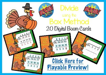 Dividing with the Box Method - Boom Cards