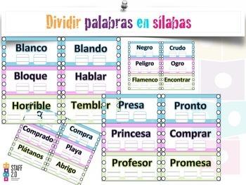 Dividir Silabas Palabras Trabadas(Grupos consonáticos). K-