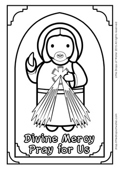 Divine Mercy Coloring - Catholic