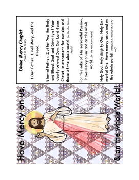 Divine Mercy Handwriting/Notebooking pages