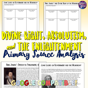 Divine Right, Absolutism, and the Enlightenment Primary Source Analysis