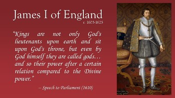Divine Right of Kings PowerPoint with Lecture Notes