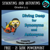 Synonym and Antonym Lesson Freebie