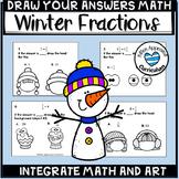 Winter Math 5th Grade Fraction Art Worksheets
