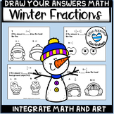 Winter Fraction Activities Math Art