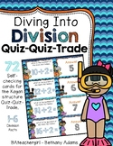 Diving Into Division ~ Facts 1-6 ~ Quiz-Quiz-Trade Cards