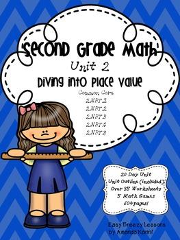 Second Grade Math Unit 2 Diving into Place Value
