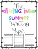 Diving Into Summer Writing Pages