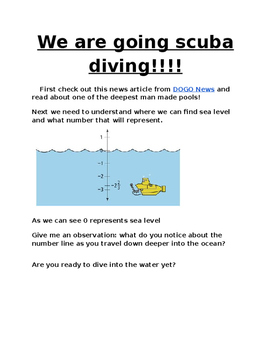 Diving deep with negative numbers