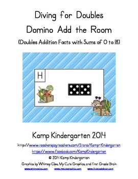 Diving for Doubles Domino Add the Room (Doubles Facts with Sums to 18)